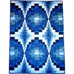 Blue Bargello