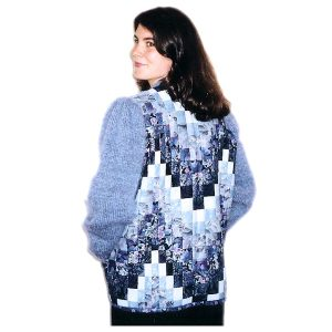 Pattern for Quilted Bargello Jacket with Knit Sleeves and Collar